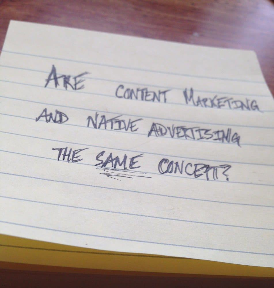 Are content marketing and native advertising the same concept? - Keynote Content Jon Cook