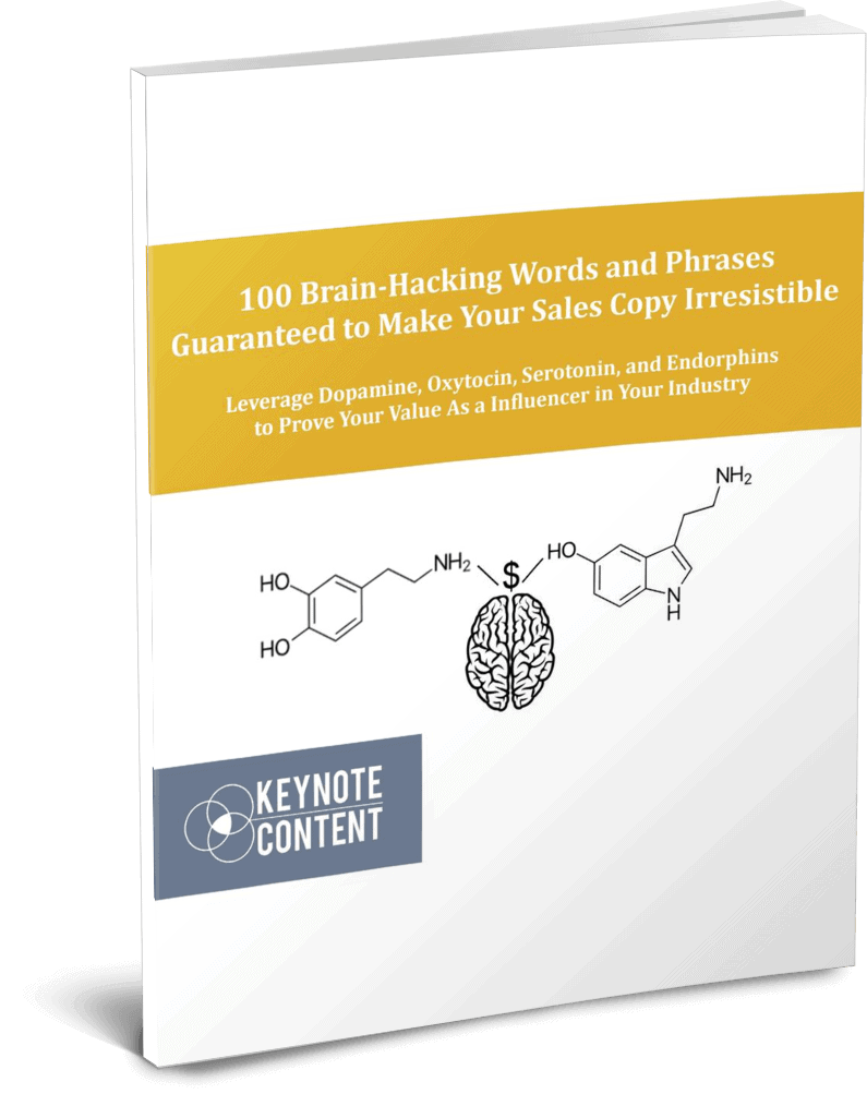 100 Brain-Hacking Words and Phrases Guaranteed to Make Your Sales Copy Irresistible | Keynote Content