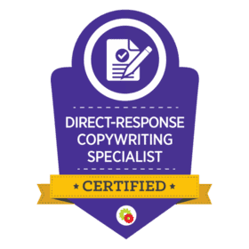 DigitalMarketer - Direct-Response Copywriting Specialist Badge for Keynote Content Copywriting for Thought Leaders
