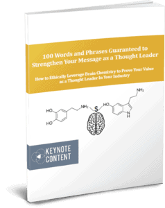 Lead Magnet - 100 Words and Phrases Guaranteed to Strengthen Your Message as a Thought Leader | Keynote Content